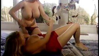 Two hot blonde babes are cat fighting on carpet